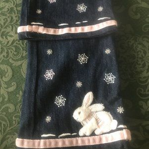 NWT gymboree snow princess bunny jeans 3 3T EASTER